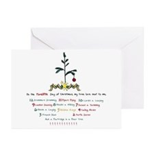 12 Days of Christmas Greeting Cards (Pk of 20)