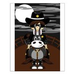 Cowboy Gunslinger on Horse Poster (Small)