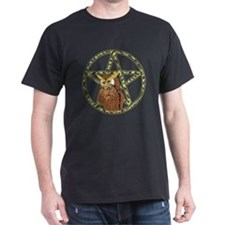 vines Pentagram Owl T-Shirt