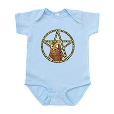 vines Pentagram Owl Infant Bodysuit