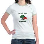I'M NOT IRISH KISS ME ANYWAYS Jr. Ringer T-Shirt