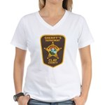 Clay County Sheriff's Dept. Women's V-Neck T-Shirt