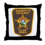 Clay County Sheriff's Dept. Throw Pillow