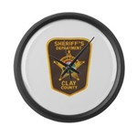 Clay County Sheriff's Dept. Large Wall Clock