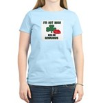 I'M NOT IRISH KISS ME ANYWAYS Women's Pink T-Shirt
