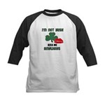 I'M NOT IRISH KISS ME ANYWAYS Kids Baseball Jersey