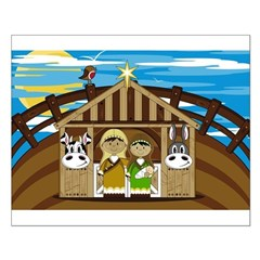 Cute Joseph and Mary Nativity Poster (Small)