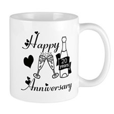 Anniversary black and white 20 Mugs