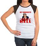 """No Virgins In Hell"" Women's Cap Sleeve T-Shirt"
