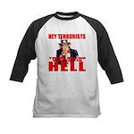 """No Virgins In Hell"" Kids Baseball Jersey"