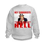 """No Virgins In Hell"" Kids Sweatshirt"