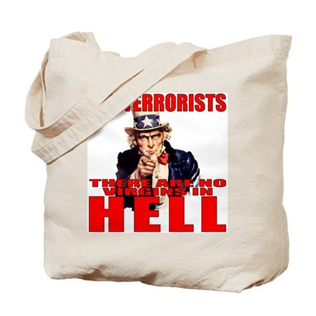 """No Virgins In Hell"" Tote Bag"