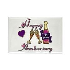Cute 35th wedding anniversary Rectangle Magnet (10 pack)