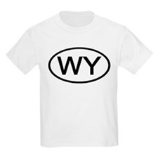 Wyoming - WY - US Oval Kids T-Shirt