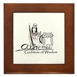 Athena: Goddess of Wisdom Framed Tile