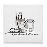 Athena: Goddess of Wisdom Tile Coaster