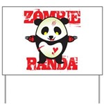 Zombie Panda Yard Sign