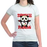 Zombie Panda Jr. Ringer T-Shirt