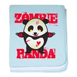 Zombie Panda baby blanket