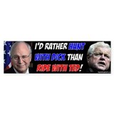 Hunt with Cheney 2 Bumper Bumper Sticker