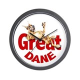 Great Dane Fawn LB Wall Clock