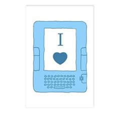 i heart ebooks Postcards (Package of 8)