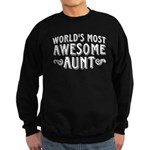 Awesome Aunt Sweatshirt (dark)