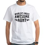 Awesome Aunt White T-Shirt