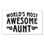 Awesome Aunt Sticker (Rectangle)