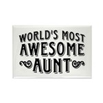 Awesome Aunt Rectangle Magnet
