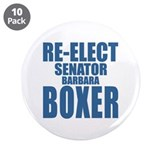"Re-Elect Sen. Boxer 3.5"" Button (10 pack)"
