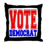 Vote Democrat Throw Pillow