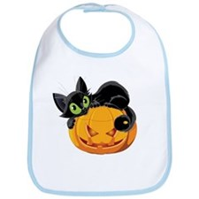 Pumpkin Kitty Bib