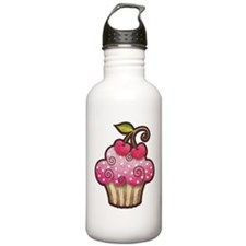 Cherry Berry Cupcake Water Bottle