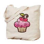 Cherry Berry Cupcake Tote Bag