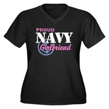 Proud Navy Girlfriend Women's Plus Size V-Neck Dar