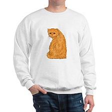 Red Persian Cat Portrait Sweatshirt