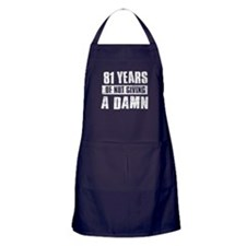 81 years of not giving a damn Apron (dark)