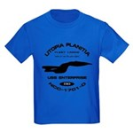 Enterprise-D Fleet Yards Kids Dark T-Shirt