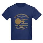 Enterprise-A Fleet Yards Kids Dark T-Shirt