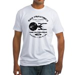 Enterprise-A (worn look) Fitted T-Shirt