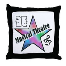 Musical Theatre Star Throw Pillow