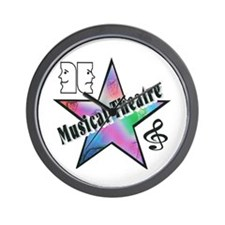 Musical Theatre Star Wall Clock