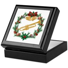 Christmas Trumpet Music Keepsake Box