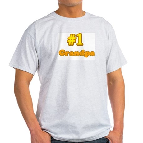 #1 Grandpa Ash Grey T-Shirt