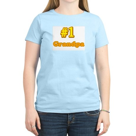 #1 Grandpa Women's Pink T-Shirt