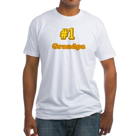 #1 Grandpa Fitted T-Shirt