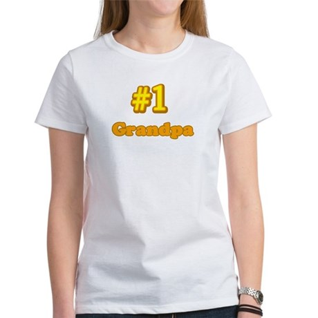#1 Grandpa Women's T-Shirt