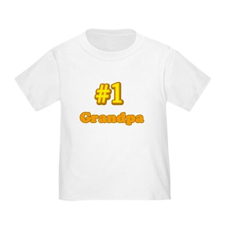 #1 Grandpa Toddler T-Shirt