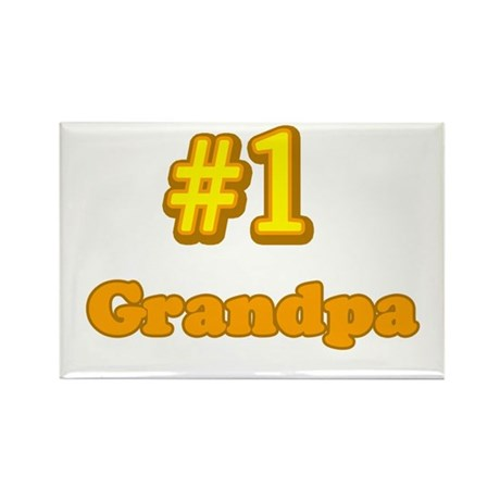 #1 Grandpa Rectangle Magnet